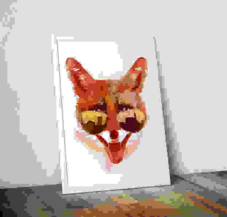 Big Town Fox by Robert Farkas Wraptious ІлюстраціїКартини та картини