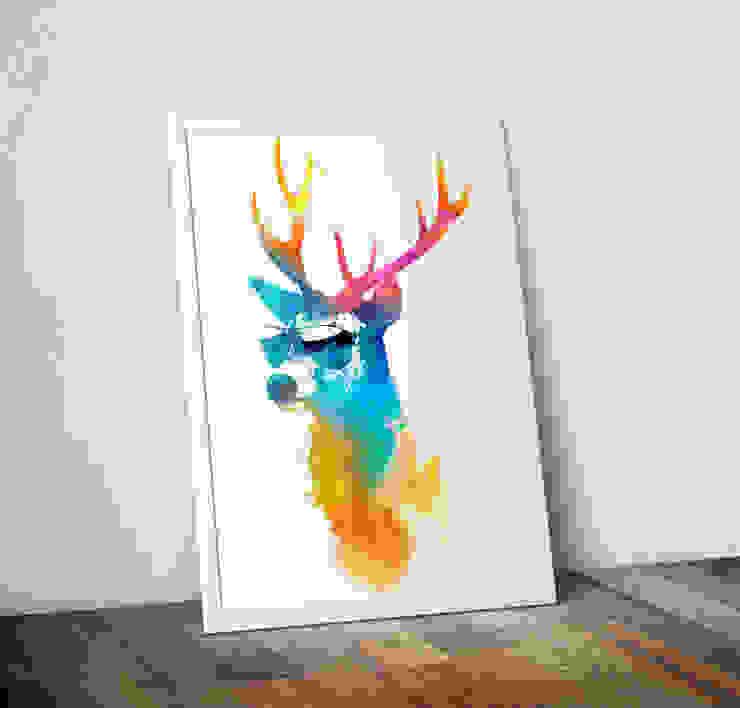 Sunny Stag by Robert Farkas Wraptious ІлюстраціїКартини та картини