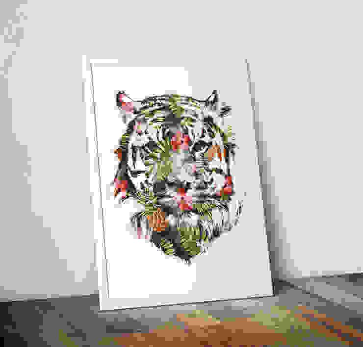 Tropical Tiger by Robert Farkas Wraptious ІлюстраціїКартини та картини