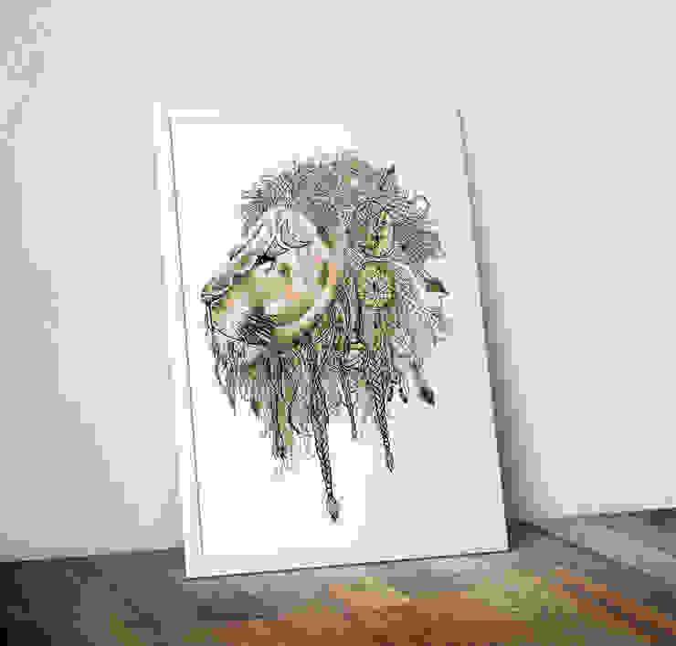 Lion's Mane by Stephanie Wood Wraptious ІлюстраціїКартини та картини