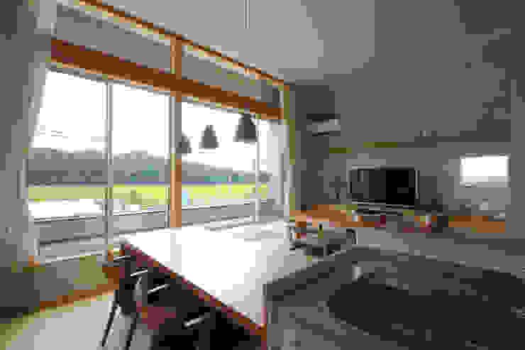 和気町の家 和風デザインの ダイニング の 福田康紀建築計画 和風