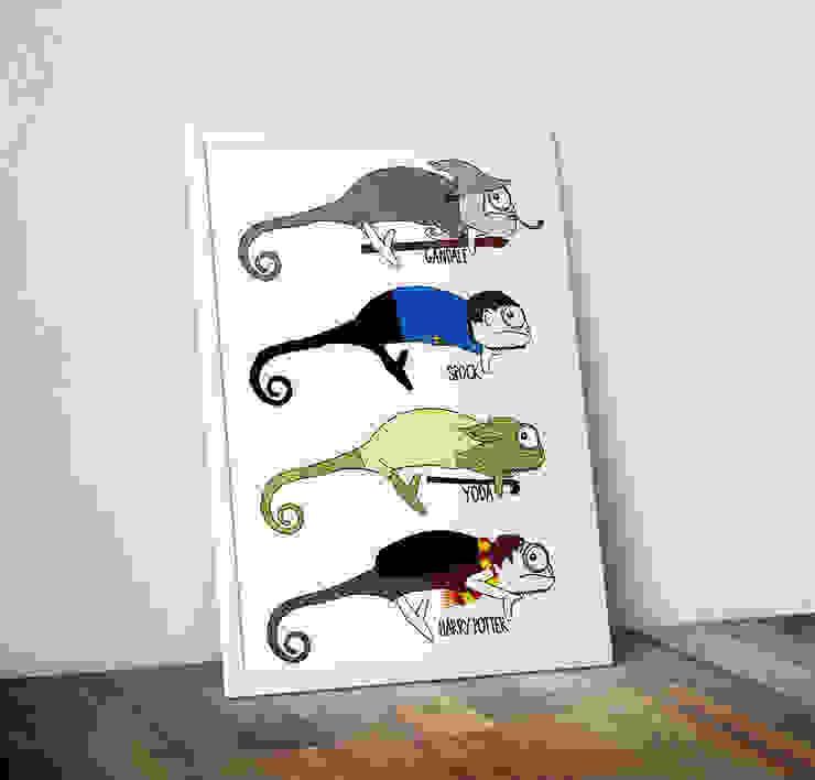 Chameleon Movies by Jasmine Hutchison Wraptious ІлюстраціїКартини та картини