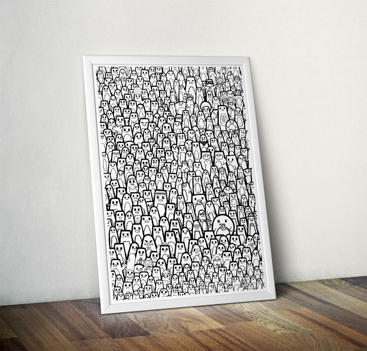 Pingu Ville by Elena Montoya Alvarez Wraptious ІлюстраціїКартини та картини