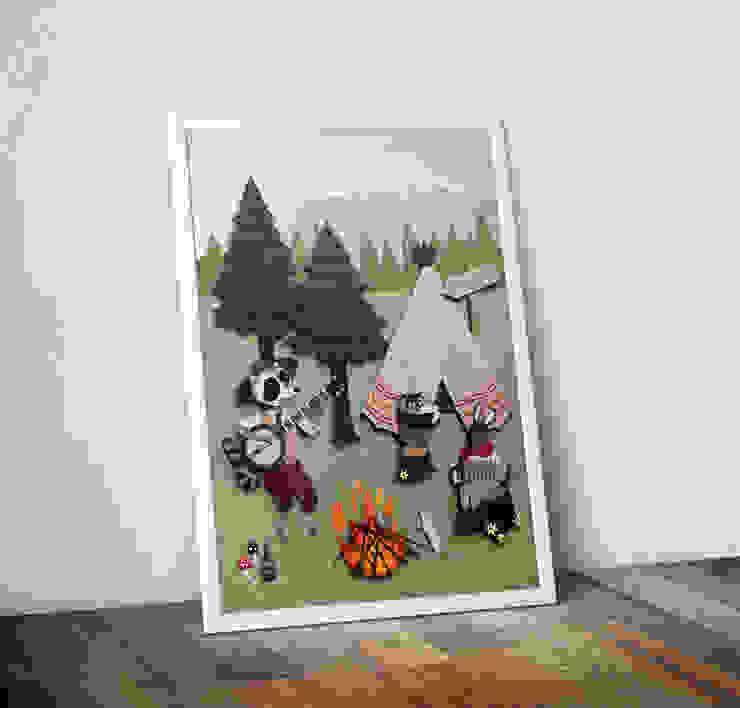 Woodland Camping by Rachael Edwards Wraptious ІлюстраціїКартини та картини