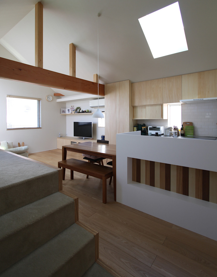 福田康紀建築計画 Comedores de estilo moderno