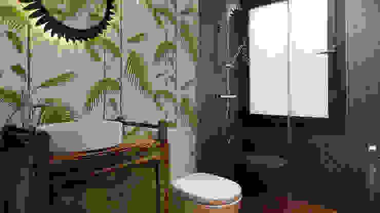 Baño Baños de estilo moderno de B-mice Design + Architecture Moderno