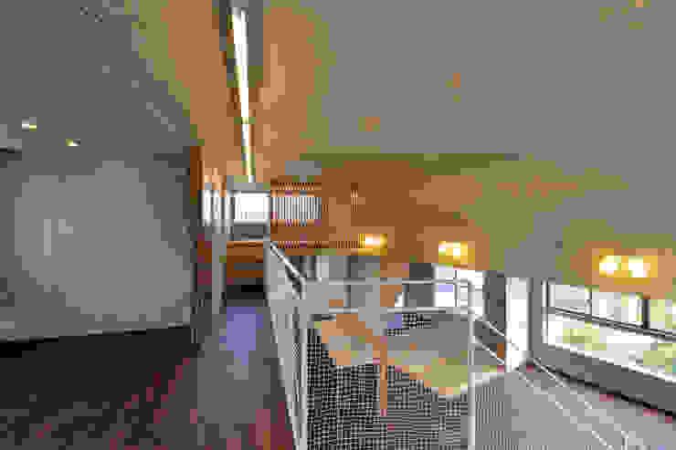 立体の家 モダンスタイルの 玄関&廊下&階段 の プラソ建築設計事務所 モダン