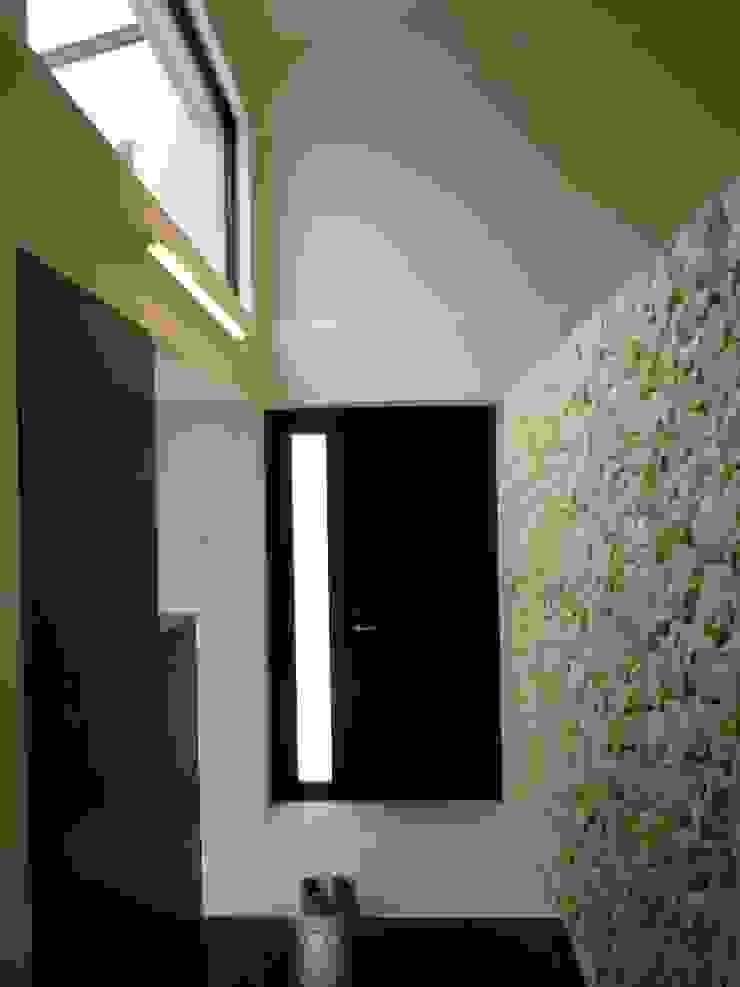 石壁の家 モダンスタイルの 玄関&廊下&階段 の プラソ建築設計事務所 モダン