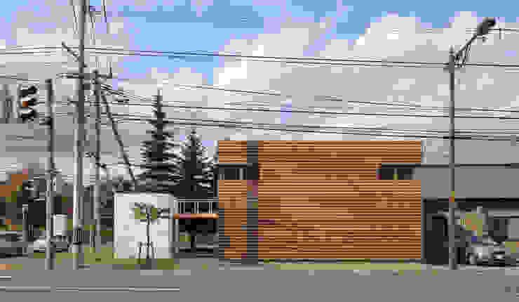Casas de estilo minimalista de 畠中 秀幸 × スタジオ・シンフォニカ有限会社 Minimalista
