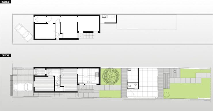 Ana Sawaia Arquitetura: modern tarz , Modern