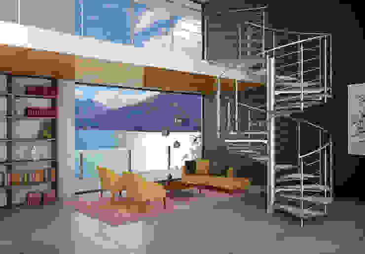 Glasstree Spiral IAM Design Corredor, vestíbulo e escadasEscadas