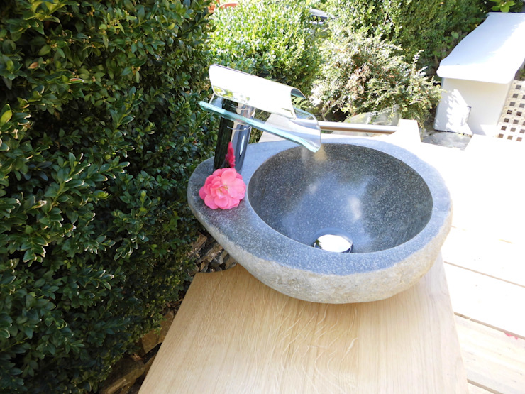 Waschbecken aus Stein Ihre Holzmanufaktur BadezimmerWaschbecken