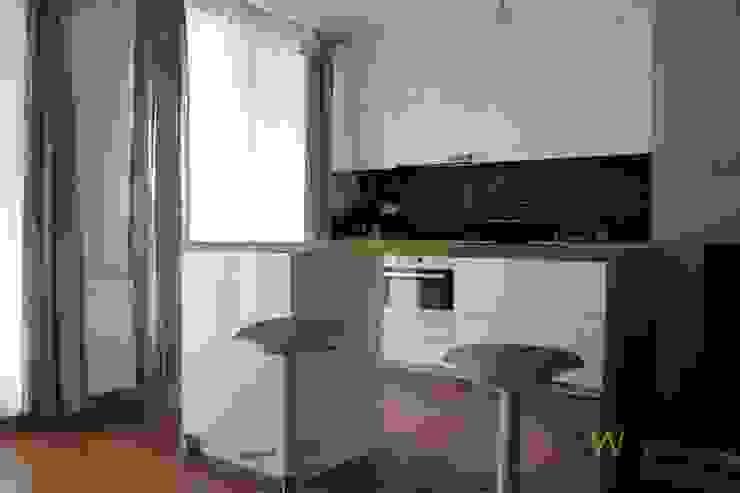 Kawalerka 29 m2 Kraków: styl , w kategorii Kuchnia zaprojektowany przez AW INTERIOR DESIGN,Minimalistyczny