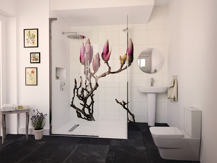 Botanical Bathroom from Bathrooms.ccom de Bathrooms.com Clásico