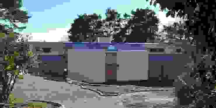 Entrance elevation Giles Jollands Architect Modern Houses