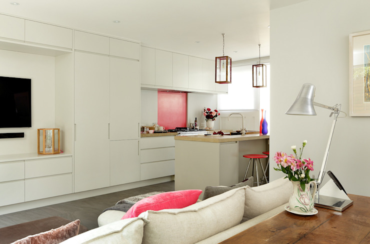 Open-Plan Kitchen/Living Room, Ladbroke Walk, London Cozinhas modernas por Cue & Co of London Moderno