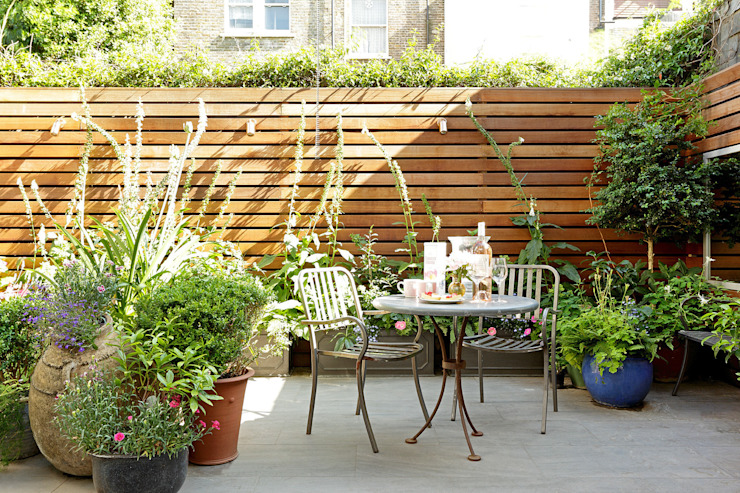 Jardin de style  par Cue & Co of London, Moderne
