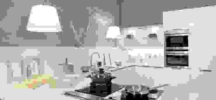 Cocina Blanca brillo de Traç Cuines SL Moderno