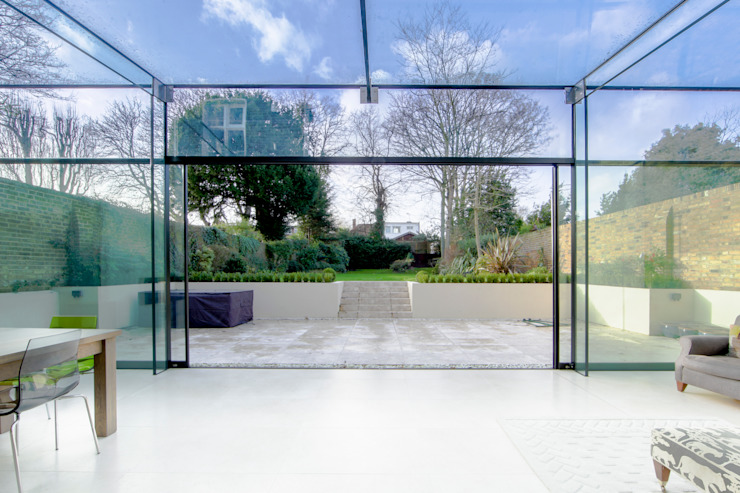 Barnes, London; Culmax Glass Box Extension and Maxlight Doors Minimalist windows & doors by Maxlight Minimalist