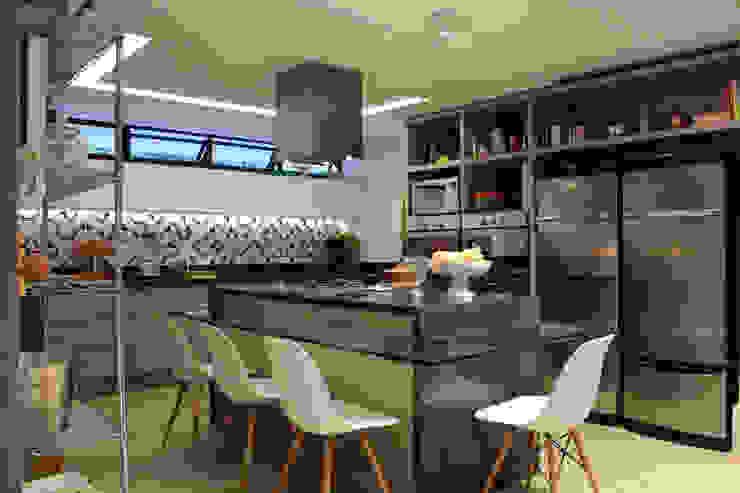 Cozinha com ilha Cozinhas modernas por Mínimo Arquitetura e Design Moderno