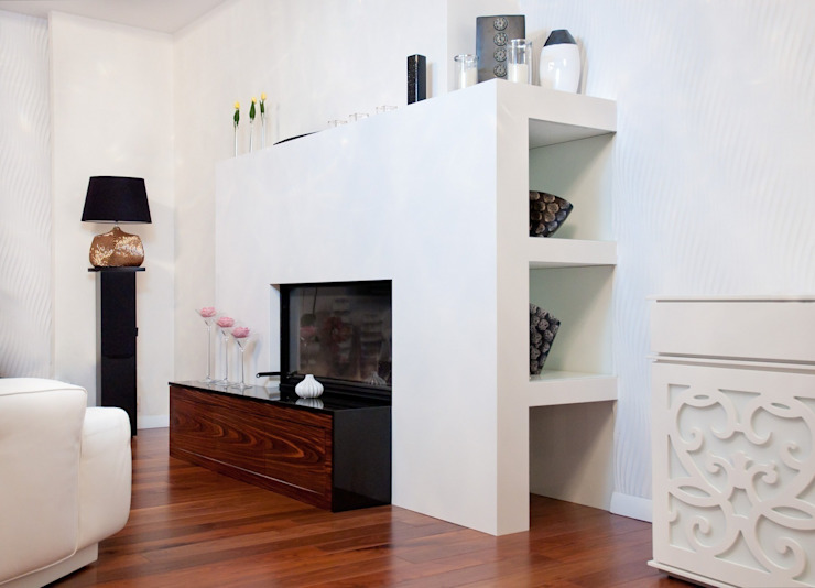 Livings de estilo moderno de GRANMAR Borowa Góra - granit, marmur, konglomerat kwarcowy Moderno