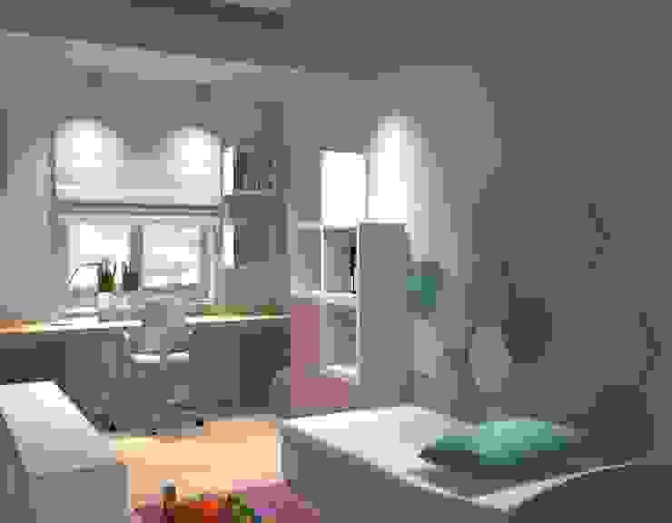 Fluffo HEXA wizualizacja pokoju Nowoczesny pokój dziecięcy od FLUFFO fabryka miękkich ścian Nowoczesny