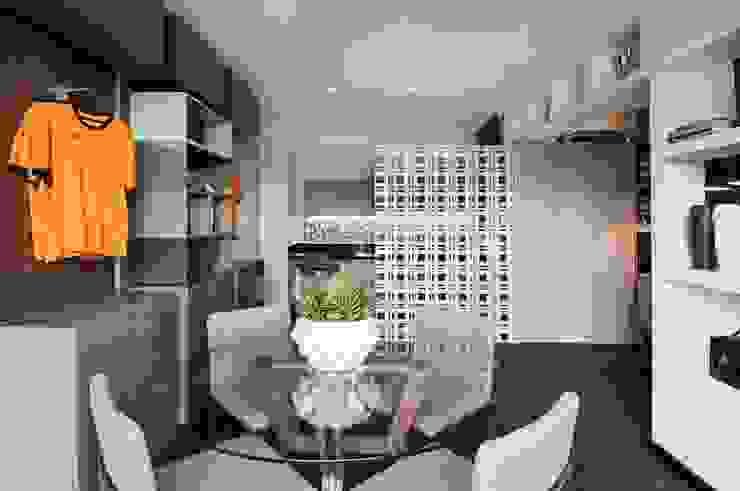 Studio do Jogador de Futebol Salas de jantar modernas por Sheila Mundim Arquitetura e Design de Interiores Moderno