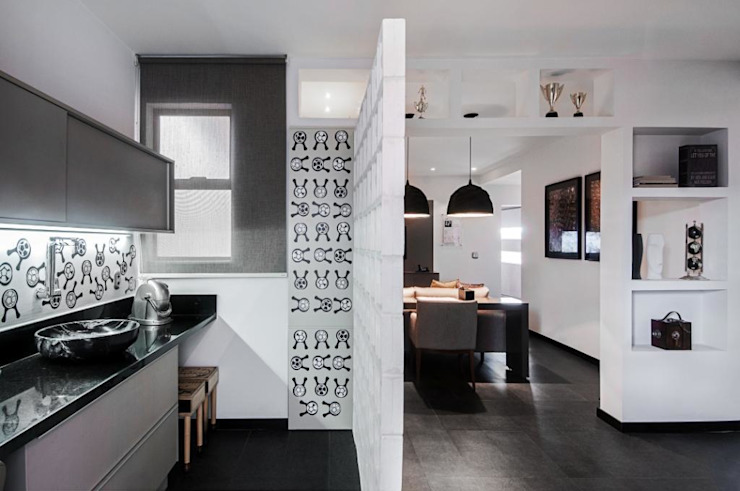 Studio do Jogador de Futebol Cozinhas modernas por Sheila Mundim Arquitetura e Design de Interiores Moderno