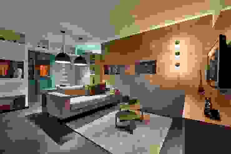 Studio do Jogador de Futebol Salas de estar modernas por Sheila Mundim Arquitetura e Design de Interiores Moderno