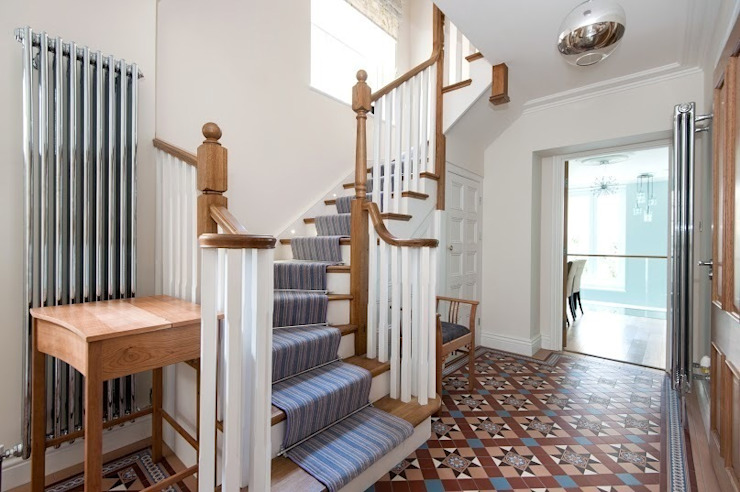 Early Victorian Townhouse Classic style corridor, hallway and stairs by Corebuild Classic