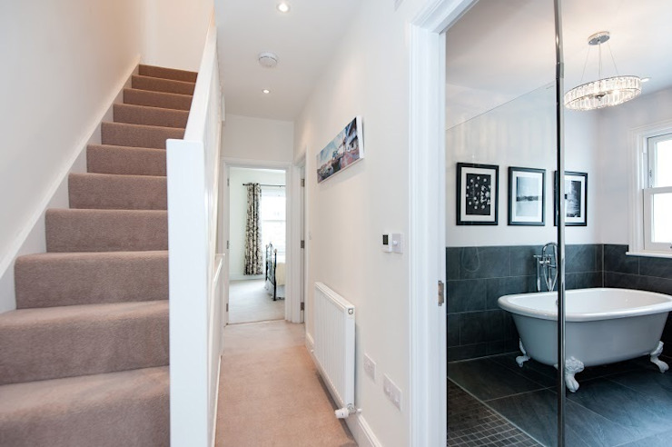 Refurbishment of late Victorian Property Classic style corridor, hallway and stairs by Corebuild Classic