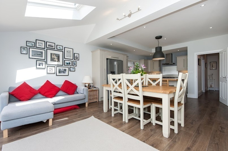 Refurbishment of late Victorian Property Modern dining room by Corebuild Modern