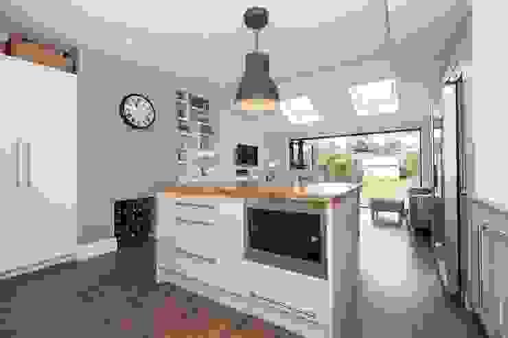 Refurbishment of late Victorian Property Modern kitchen by Corebuild Modern
