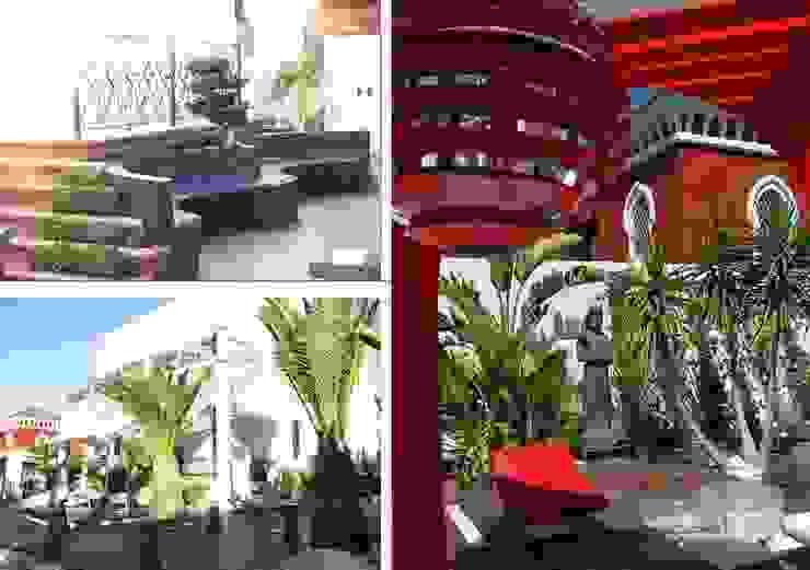 espacio exterior jardines Bares y clubs de estilo moderno de ESTUDIO DELIER Moderno
