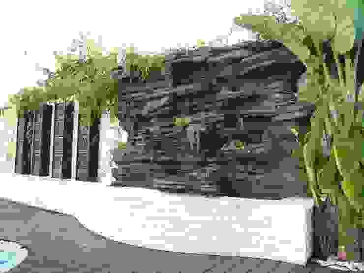 jardin vertical y cascadas de ESTUDIO DELIER Tropical