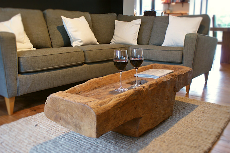 Rustic Coffee Table :  Dining room by BluBambu Living ,