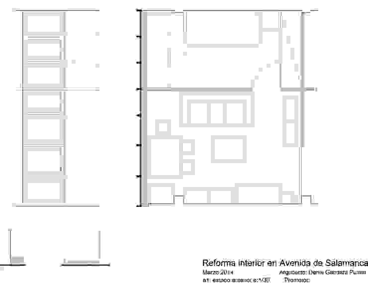 plano planta estado anterior de Estudo de Arquitectura Denís Gándara