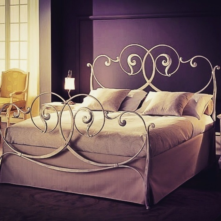 Luxury Wrought Iron Bed de Maison Noblesse Moderno