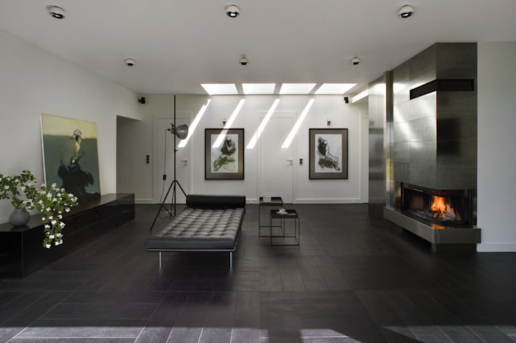 Łęka - Park: styl , w kategorii Salon zaprojektowany przez Architekci Łosiak_Siwiak,Minimalistyczny