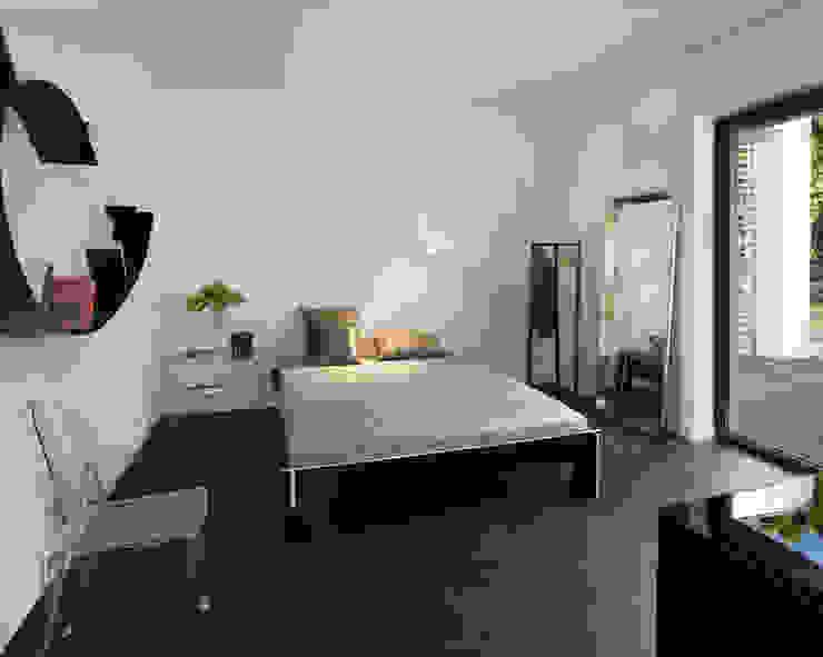 Łęka - Park: styl , w kategorii Sypialnia zaprojektowany przez Architekci Łosiak_Siwiak,Minimalistyczny
