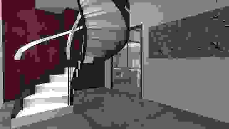 Modern corridor, hallway & stairs by Atelier SCENARIO Modern