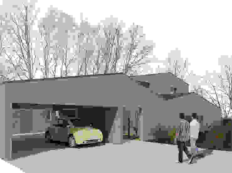 Casapanal Garajes de estilo moderno de soma [arquitectura imasd] Moderno
