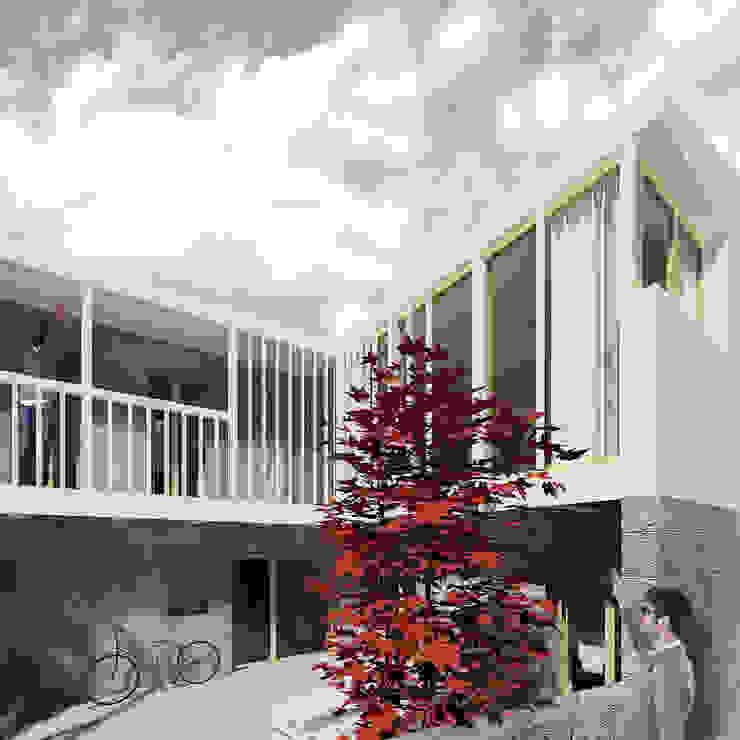 Churrasco House Balcones y terrazas de estilo moderno de soma [arquitectura imasd] Moderno