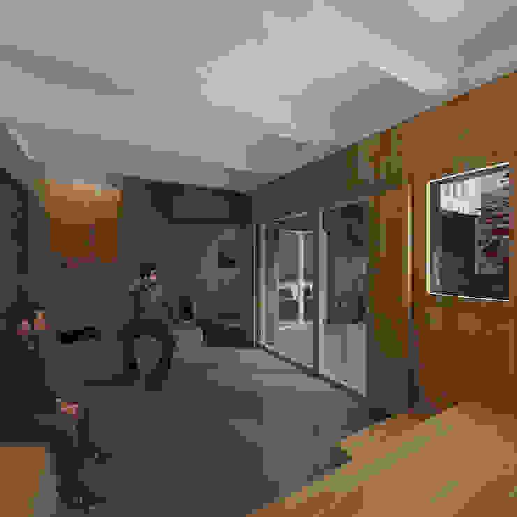Churrasco House Pasillos, vestíbulos y escaleras de estilo moderno de soma [arquitectura imasd] Moderno