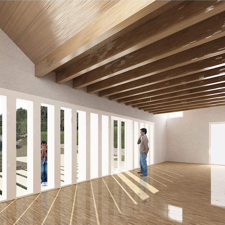 La Casa Pilates Salones de estilo moderno de soma [arquitectura imasd] Moderno