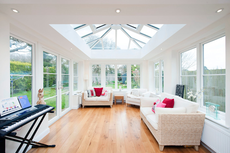 Orangery lounge extension Modern conservatory by ROCOCO Modern