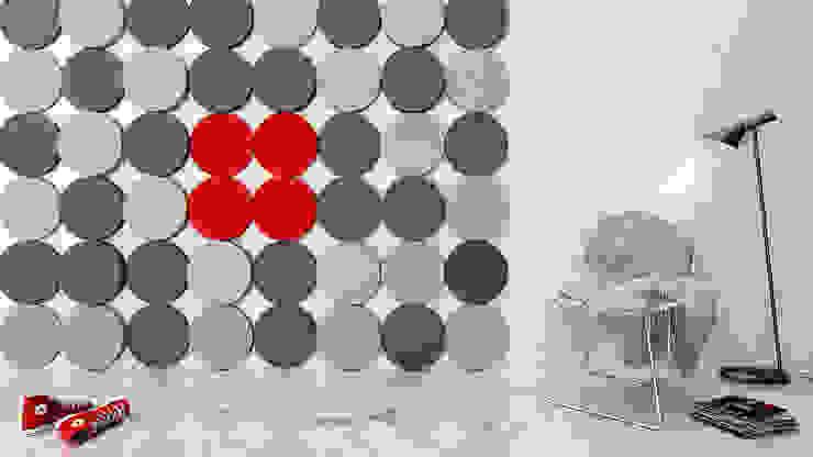 Dots od FLUFFO fabryka miękkich ścian Nowoczesny