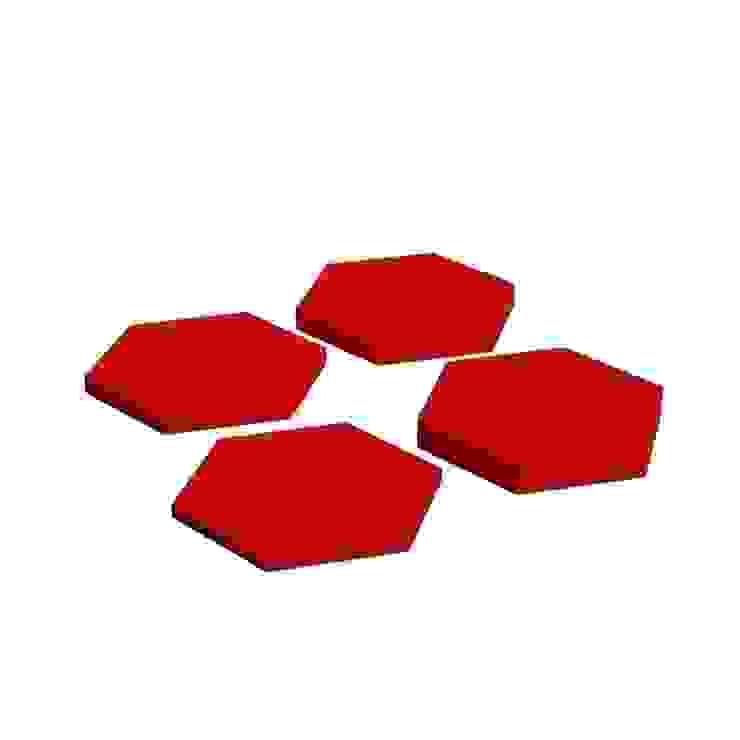 Hexa od FLUFFO fabryka miękkich ścian Nowoczesny