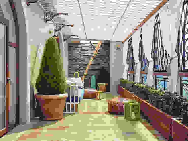 Mediterranean style balcony, veranda & terrace by Sweet Home Design Mediterranean