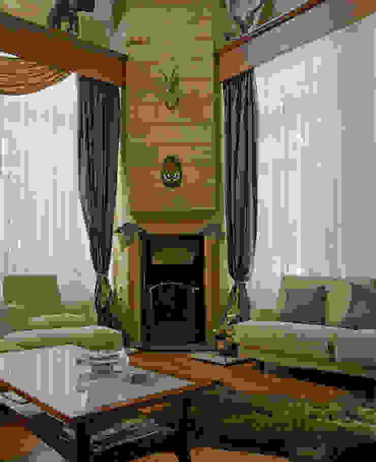 камин в гостиной от Remistudio Кантри
